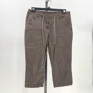ann taylor LOFT brown capri pants sz 10